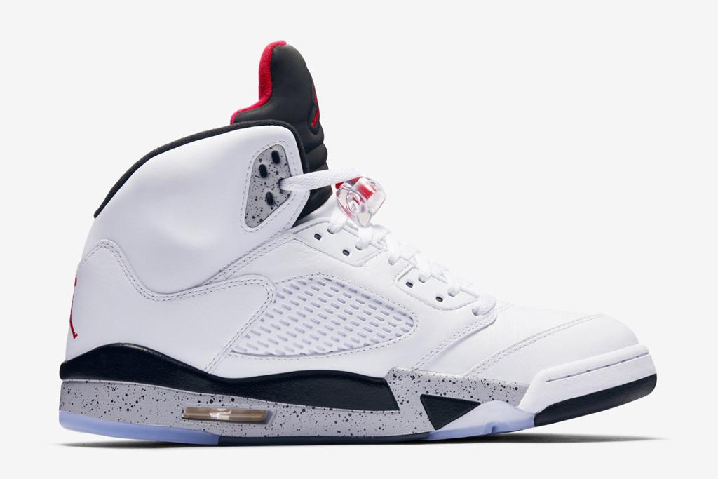 Air Jordan 5 White Cement Gray