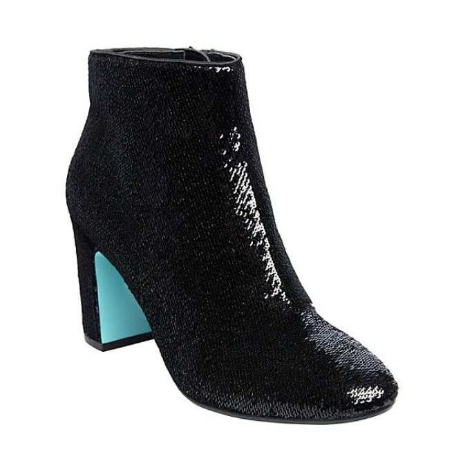 Betsey Johnson SB-Blair Black Sequin Booties