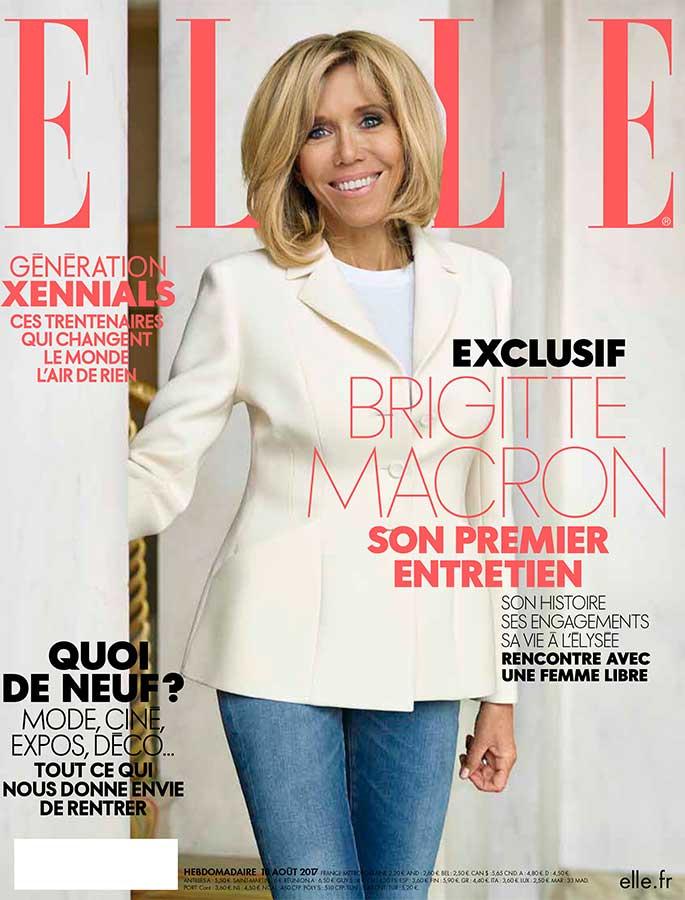 Brigitte Macron's French ELLE magazine cover.