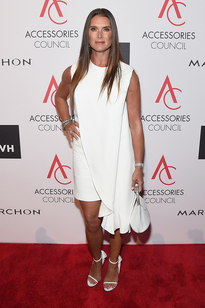 Brooke Shields wearsCalvin Kelin sandals at the 21st Annual ACE Awards in New york