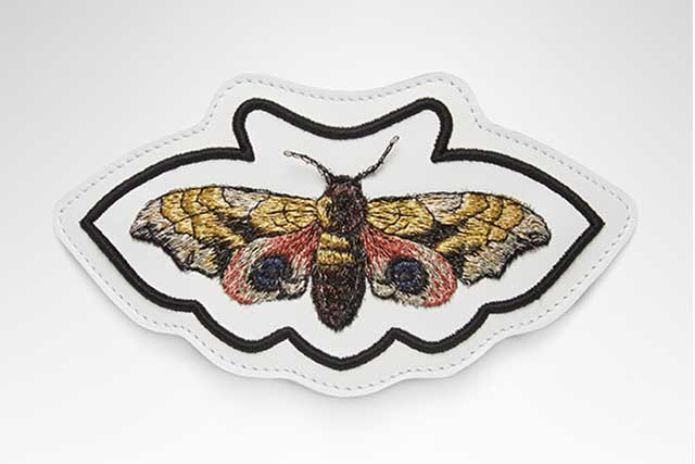 Butterfly patch for Gucci's Ace sneakers exclusive to Harrods.