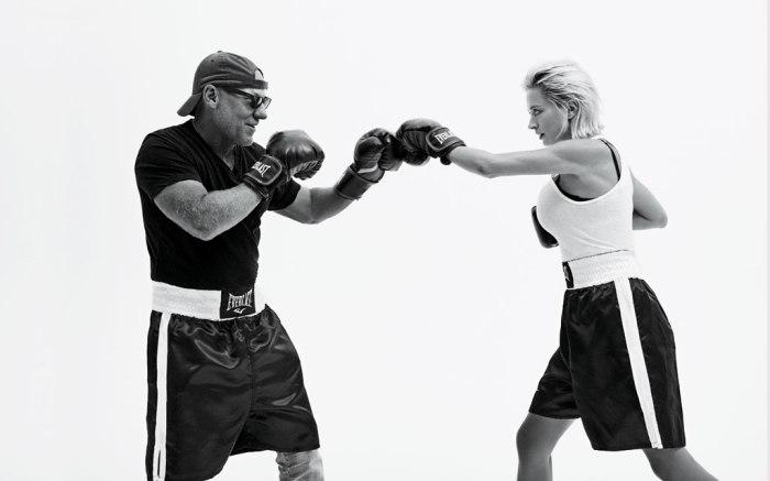 Steve Madden and Caroline Vreeland boxing