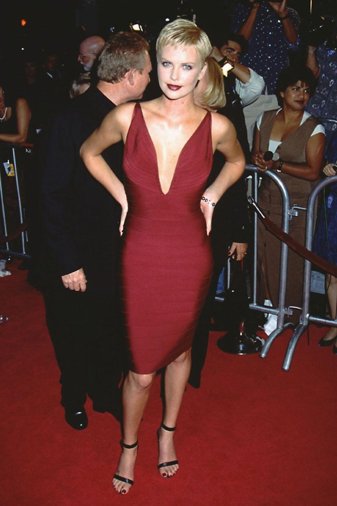 Charlize Theron, red carpet, red dress