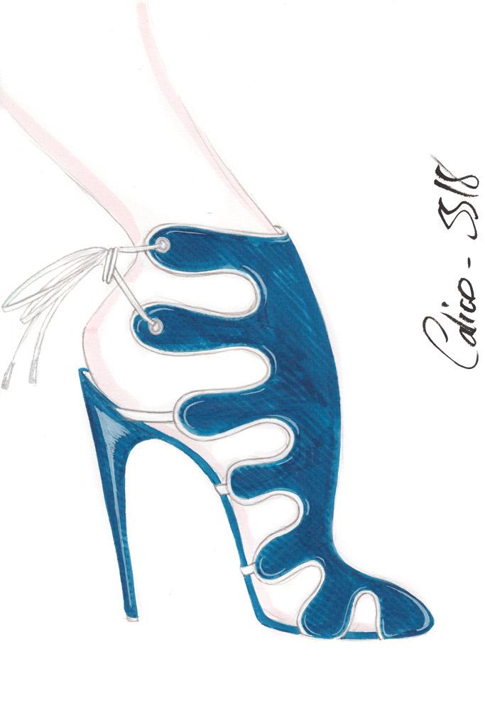 Chloe Gosselin Spring 2018 Sketch