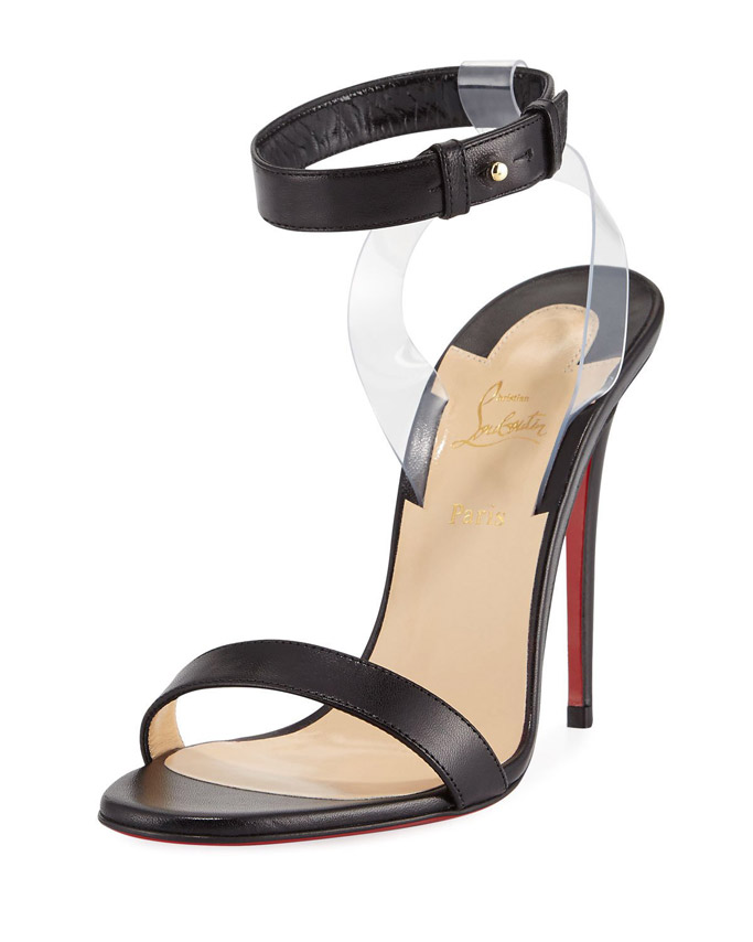 Jonatina Illusion, pvc strap, christian louboutin, sandal