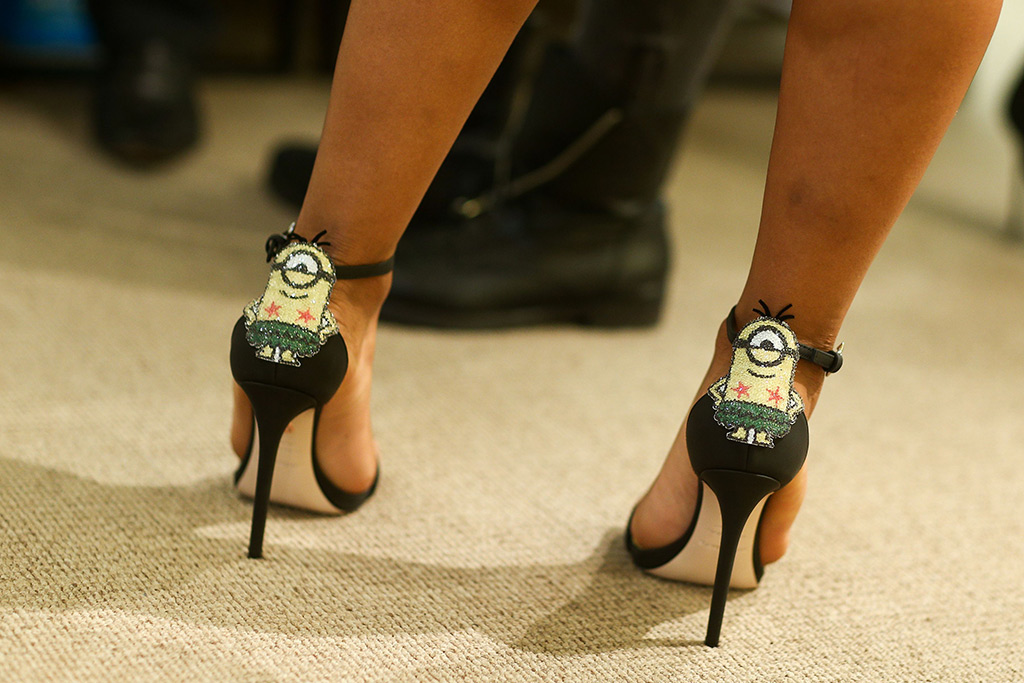 Christina Milian wears the Ruthie Davis