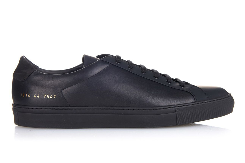 Common Projects Achilles Low Leather Black