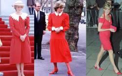 Princess Diana's mono-block style.