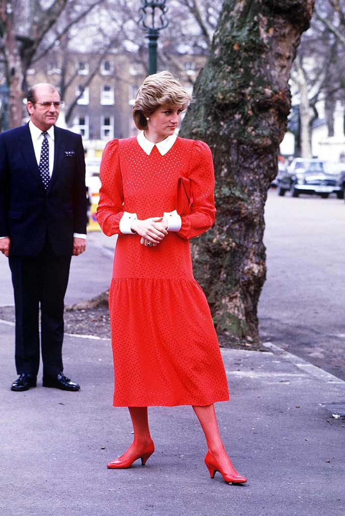 Princess Diana outside London's Japanese embassy in 1986.