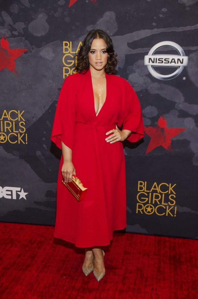 Dascha Polanco, red dress, bet, 2017, black girls rock