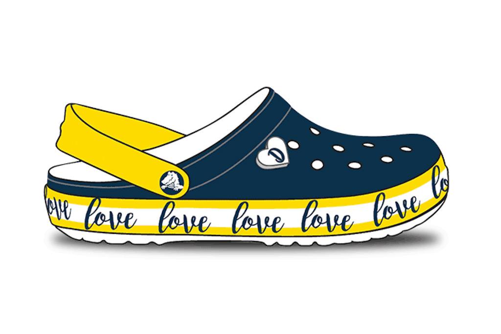 Drew Barrymore Crocs clog