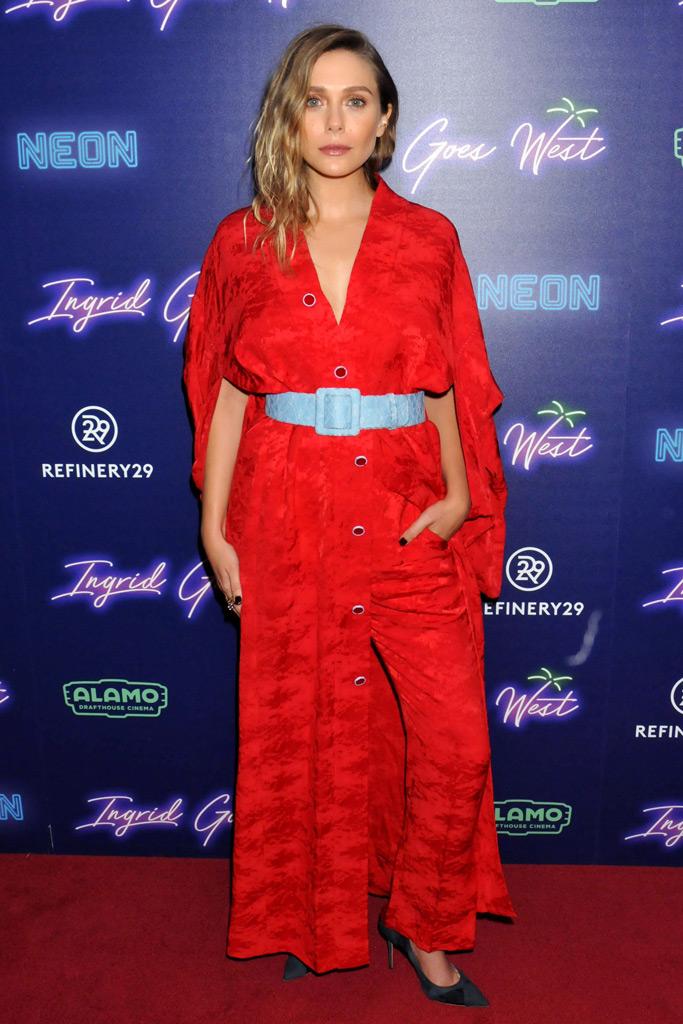Elizabeth Olsen, red jumpsuit, Ingrid Goes west