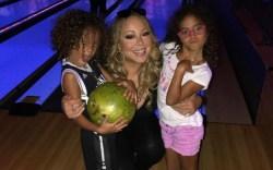 Mariah Carey bowling with her kids