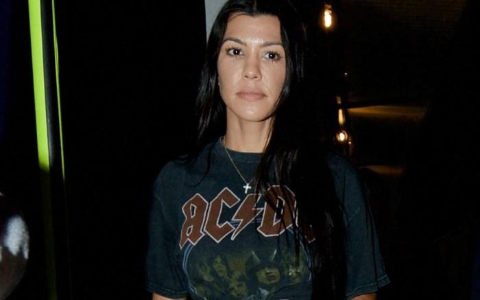 Kourtney Kardashian is seen leaving church.