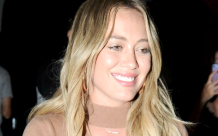Hilary Duff leaves Craig's Restaurant in West Hollywood.