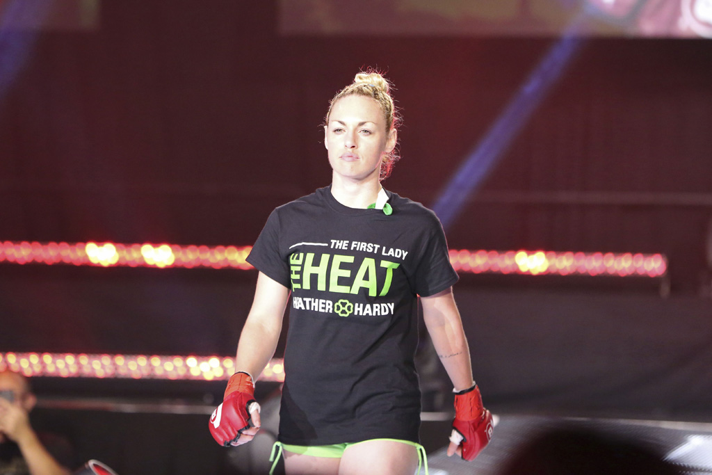 Boxer mixed martial artist Heather Hardy