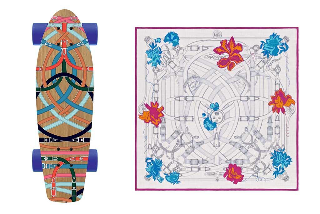 Matching Hermes prints.