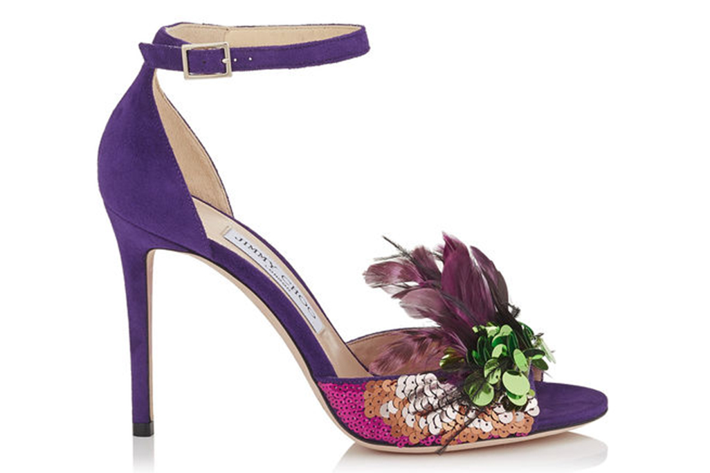 Jimmy Choo sandals inspired by prince and pantone purple color