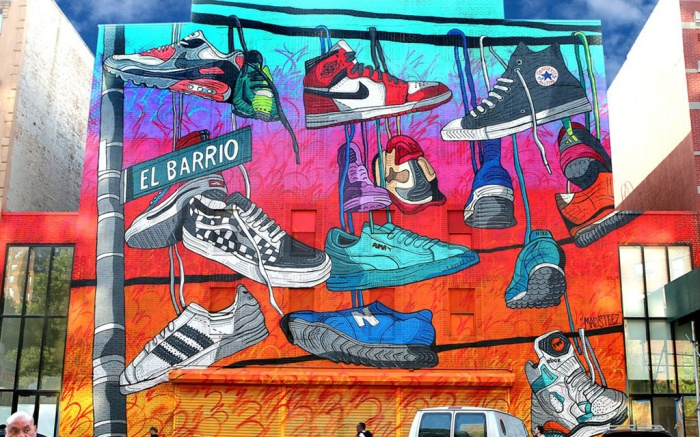 KicksUSA mural Spanish Harlem NYC Madsteez