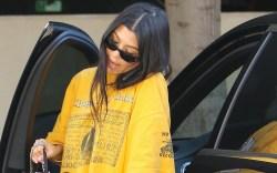 kourtney kardashian, adidas, vintage t-shirt