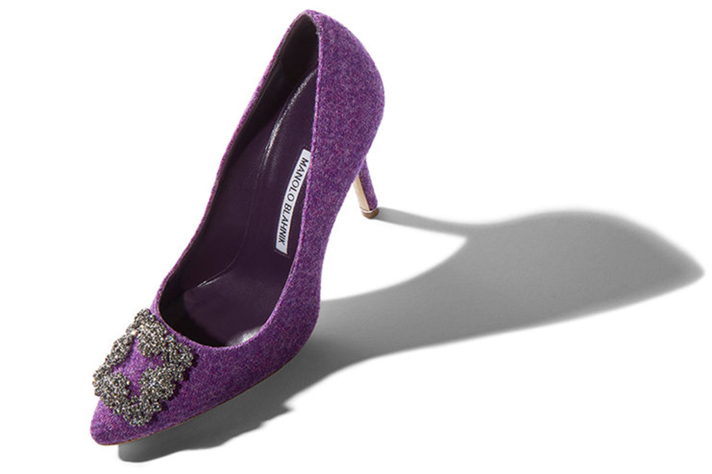 manolo blahnik Pumps inspired by prince and pantone purple color