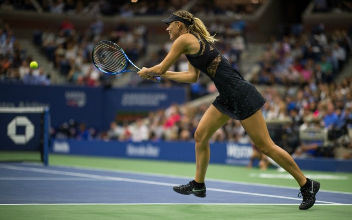 Maria Sharapova competing at the US Open