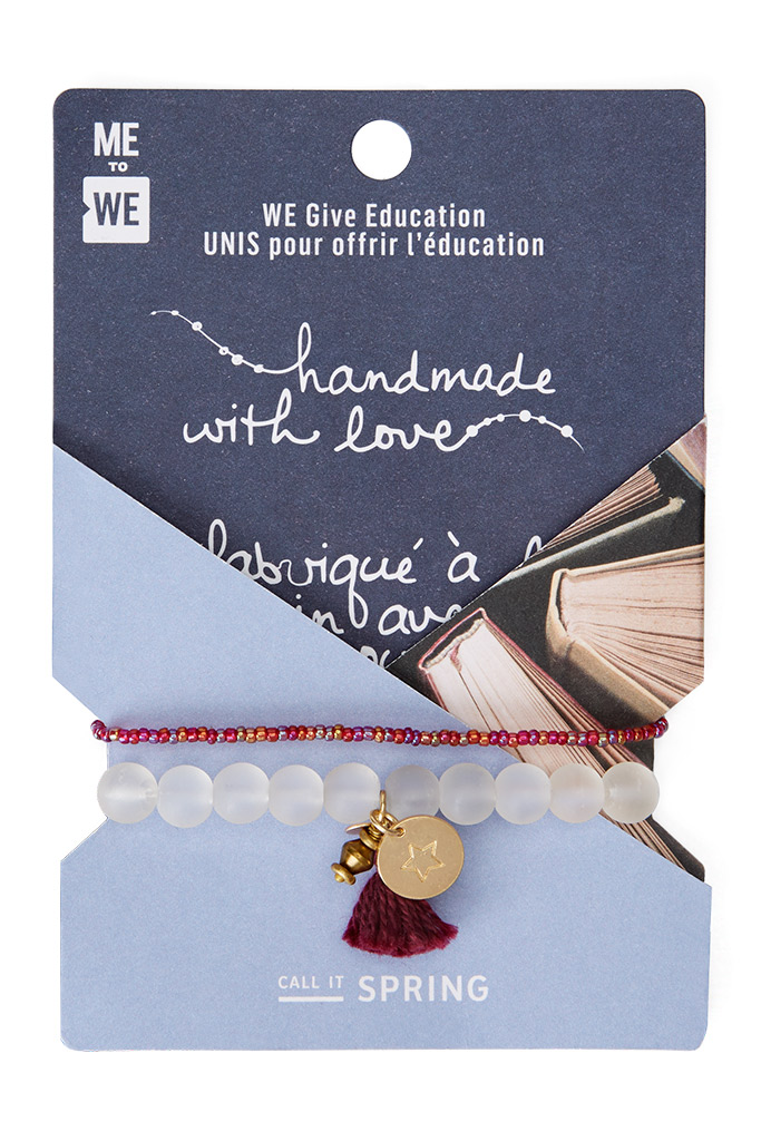 call it spring, me to we, education bracelet