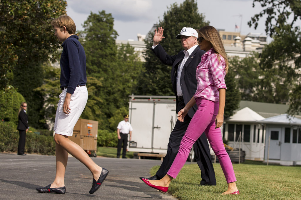 melania trump, pink, shoes, white house