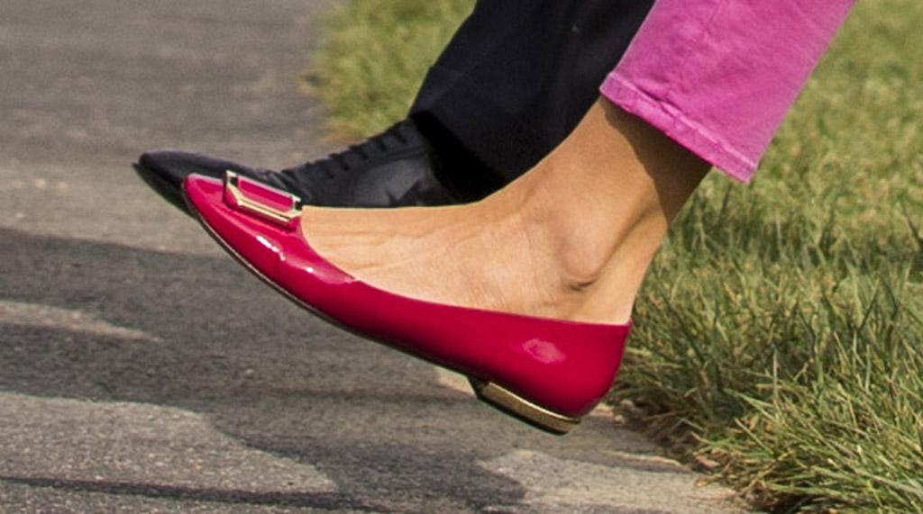 melania trump, shoes, flats