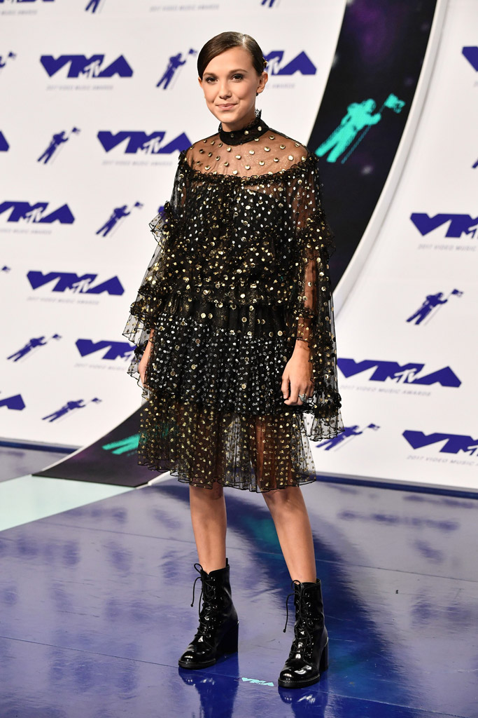 2017 mtv vma, red carpet, Millie Bobby Brown