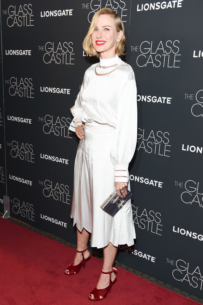 Naomi Watts, dress, shoes, the glass castle