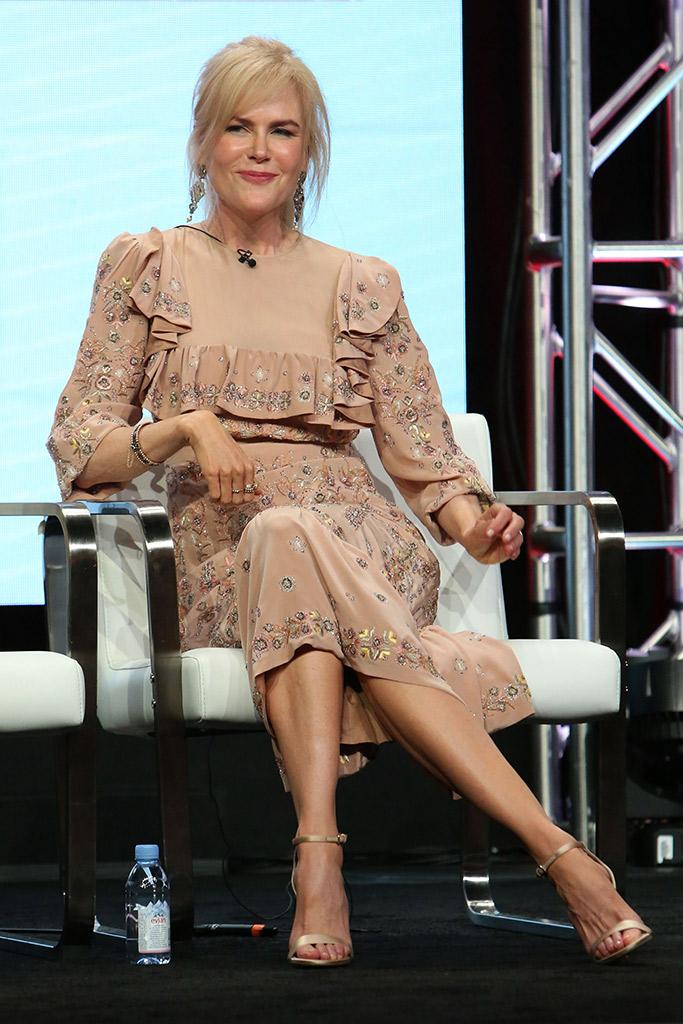 Nicole Kidman wears rochas and jimmy choo sandals in Los angeles