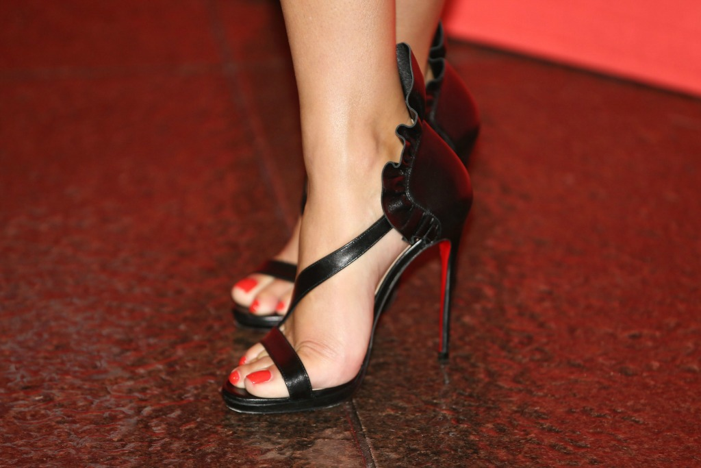 "Reese Witherspoon in the Christian Louboutin Colankle at the ""Home Again"" premiere"