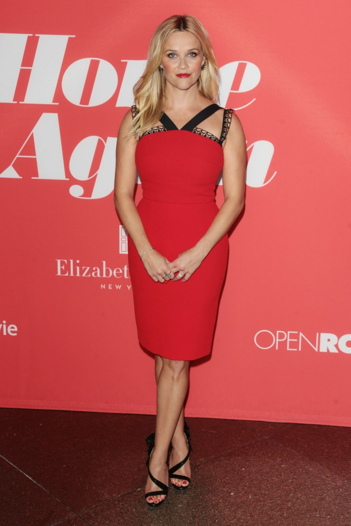 "Reese Witherspoon in Roland Mouret and Christian Louboutin at the ""Home Again"" Premier"