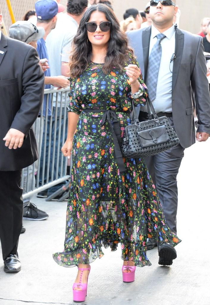 Salma Hayek makes an appearance at 'Jimmy Kimmel Live.'