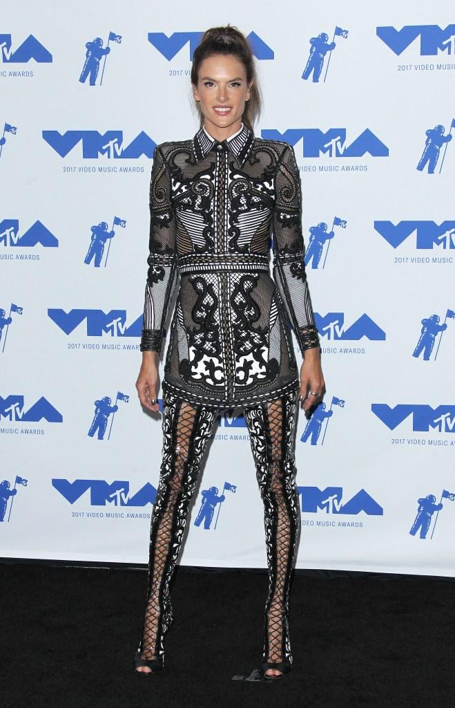 Alessandra Ambrosio at the 2017 MTV VMA Awards.