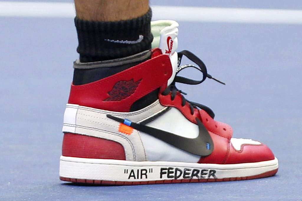 Roger Federer Wears Off-White x Air Jordan 1