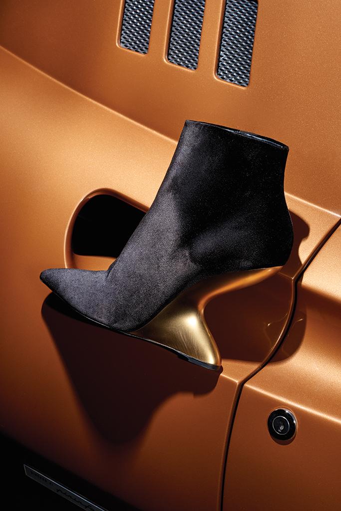 Salvatore Ferragamo F-Wedge heels.