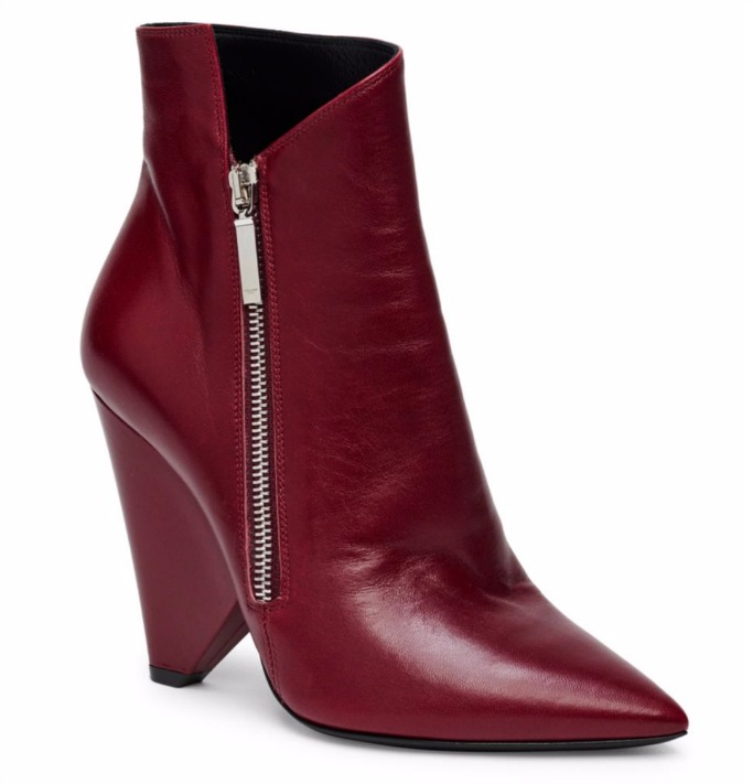 SAINT LAURENT Niki leather ankle boots