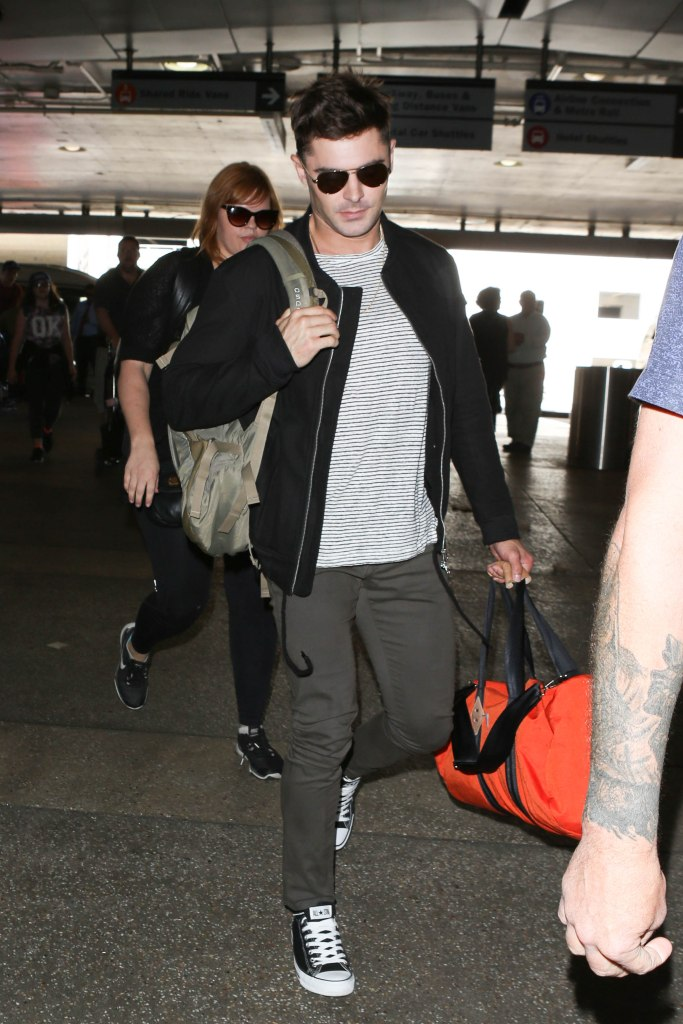 Zac Efron seen at LAX.