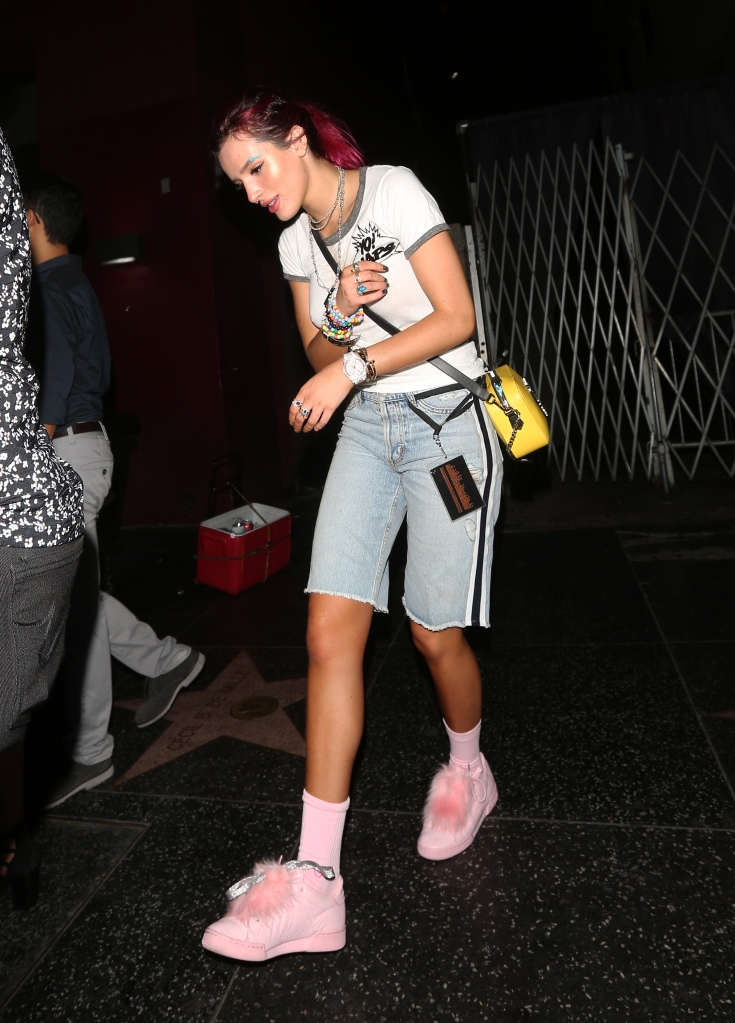 Bella Thorne leaves the Avalon club in Hollywood.