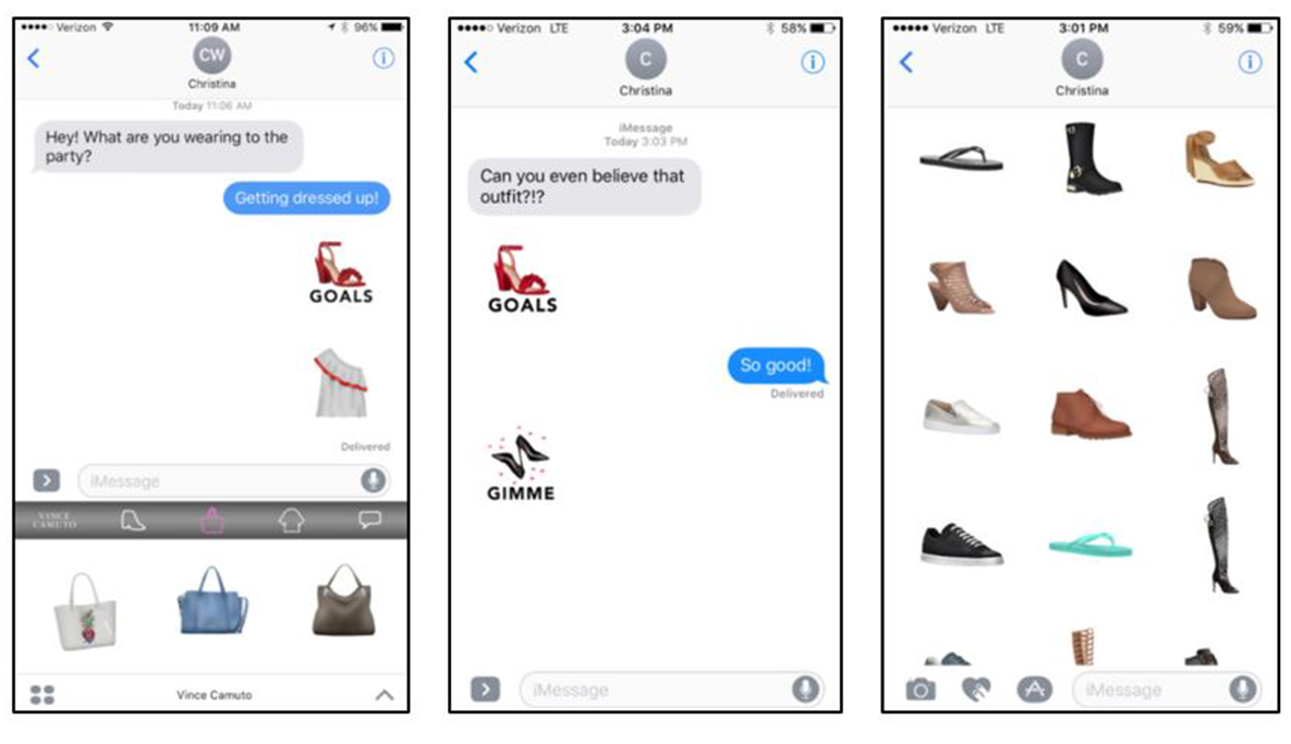 Vince Camuto stickers app