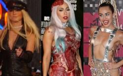 Britney spears, lady gaga, miley cyrus