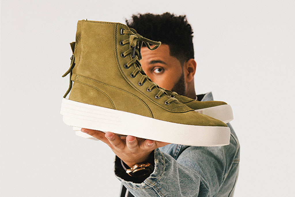 The Weeknd on His Puma XO Parallel