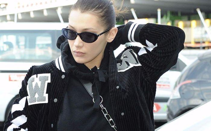Bella Hadid leaving Milan Fashion Week