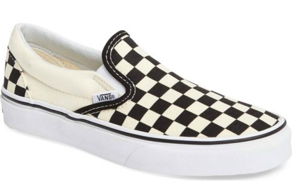 vans checkerboard classic slip on sneakers