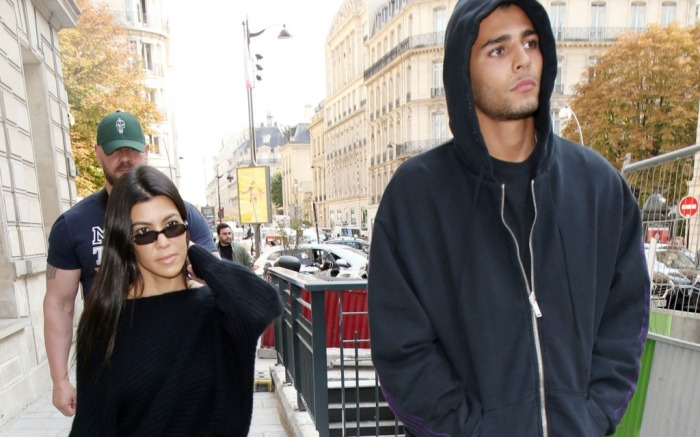 Kourtney Kardashian and Younes Bendjima , paris fashion week