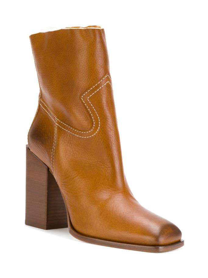 saint lauren jodie 105 western ankle boots