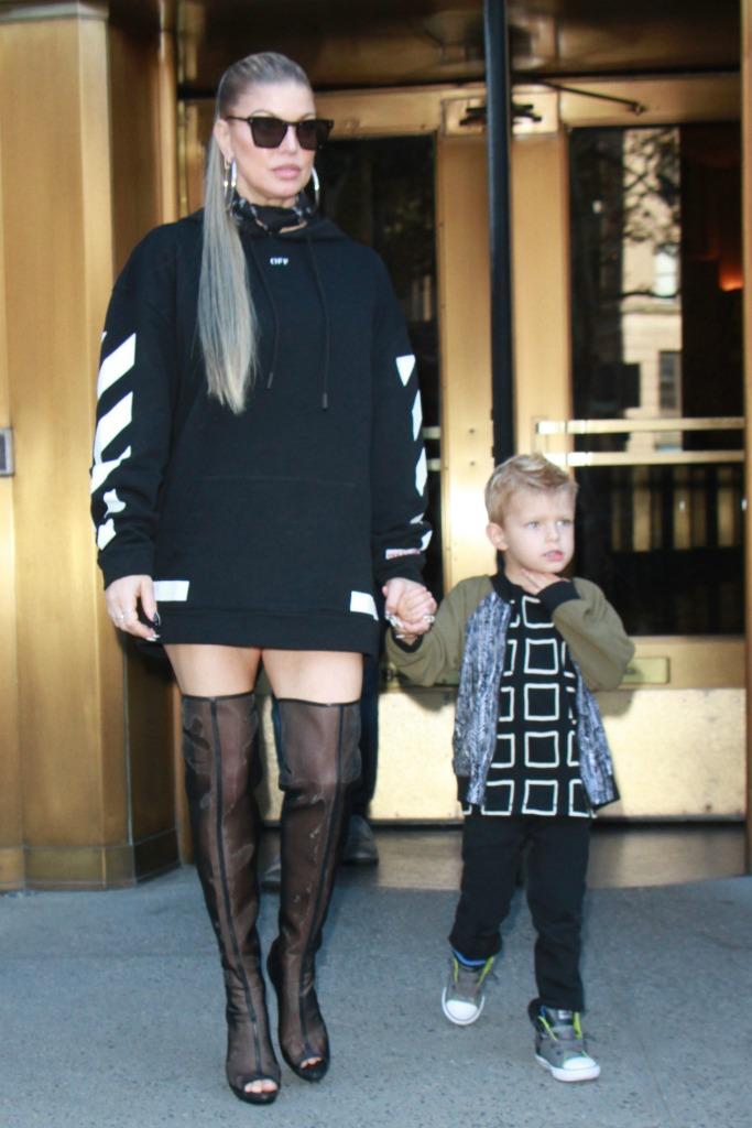 fergie, Vatanika black sheer over-the-knee boots
