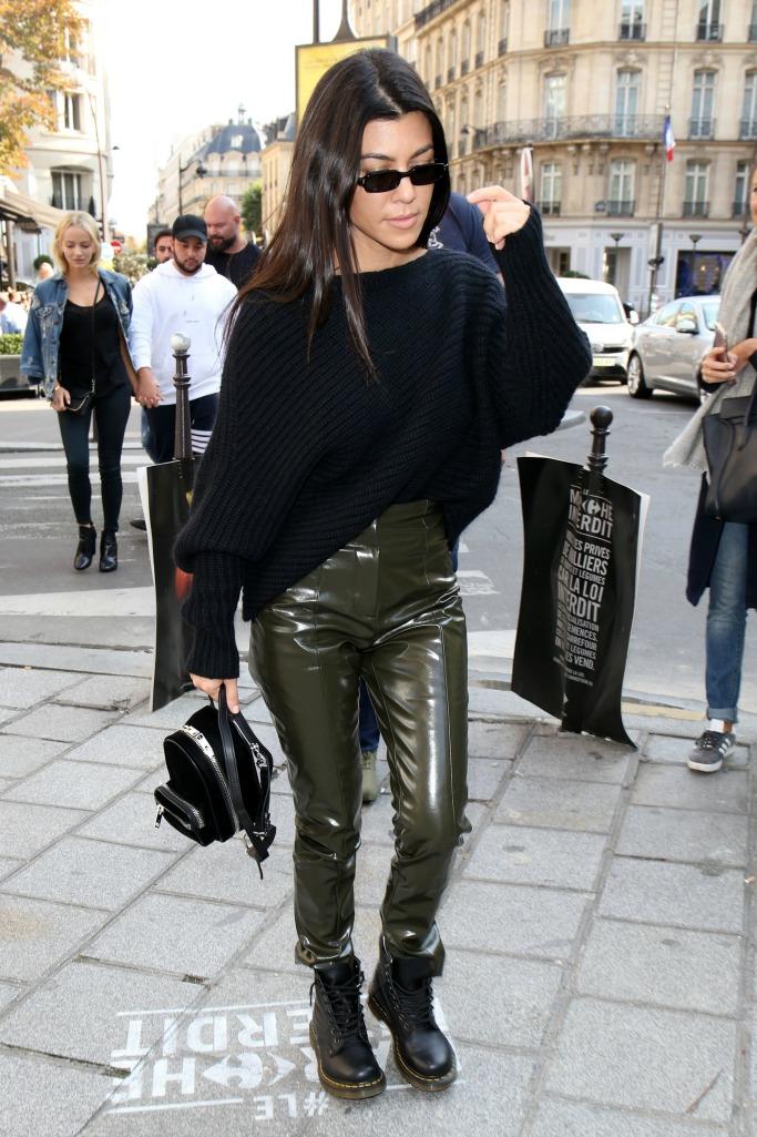 dr. martens, doc martens, Kourtney Kardashian, paris fashion week
